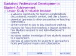sustained professional development student achievement