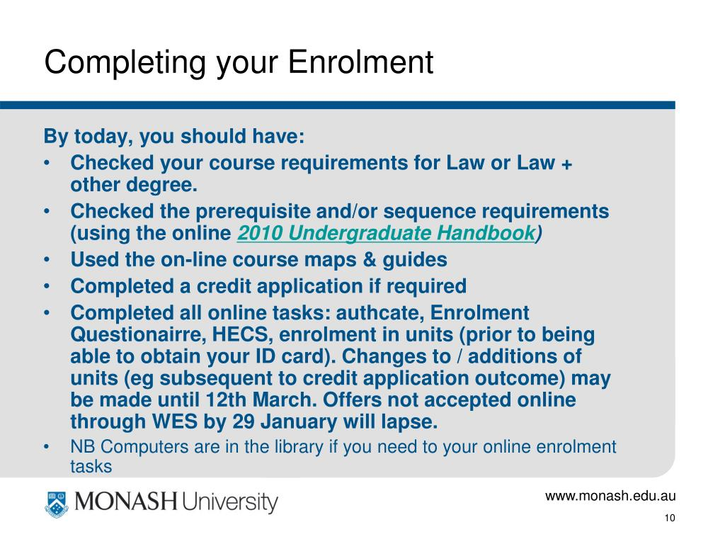 Completing your Enrolment