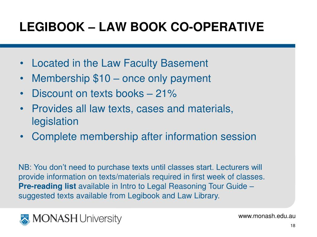 LEGIBOOK – LAW BOOK CO-OPERATIVE