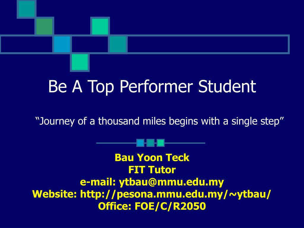 be a top performer student l.