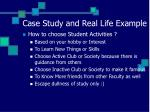 case study and real life example