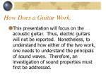 how does a guitar work