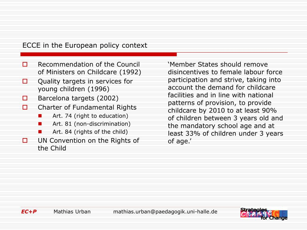 Recommendation of the Council of Ministers on Childcare (1992)