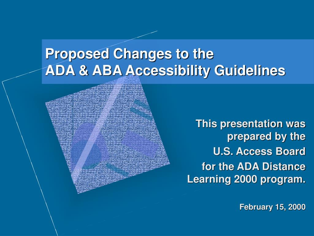 proposed changes to the ada aba accessibility guidelines l.