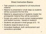direct instruction basics