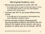morningside academy cont