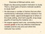 overview of michael article cont
