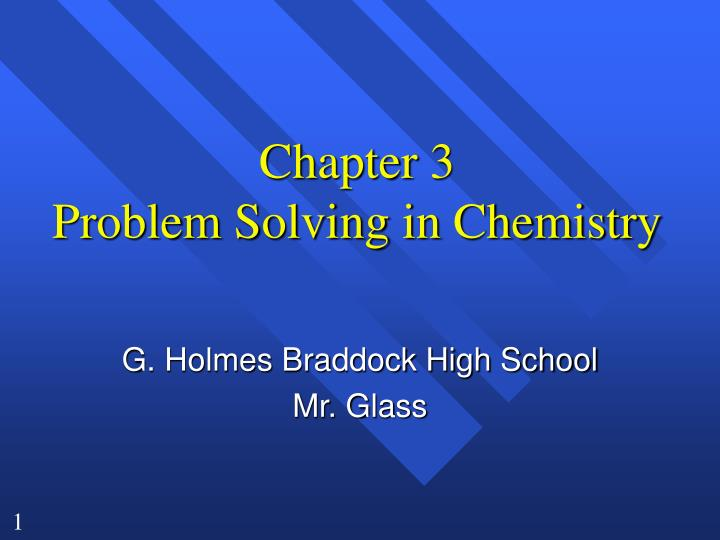 chapter 3 problem solving in chemistry n.