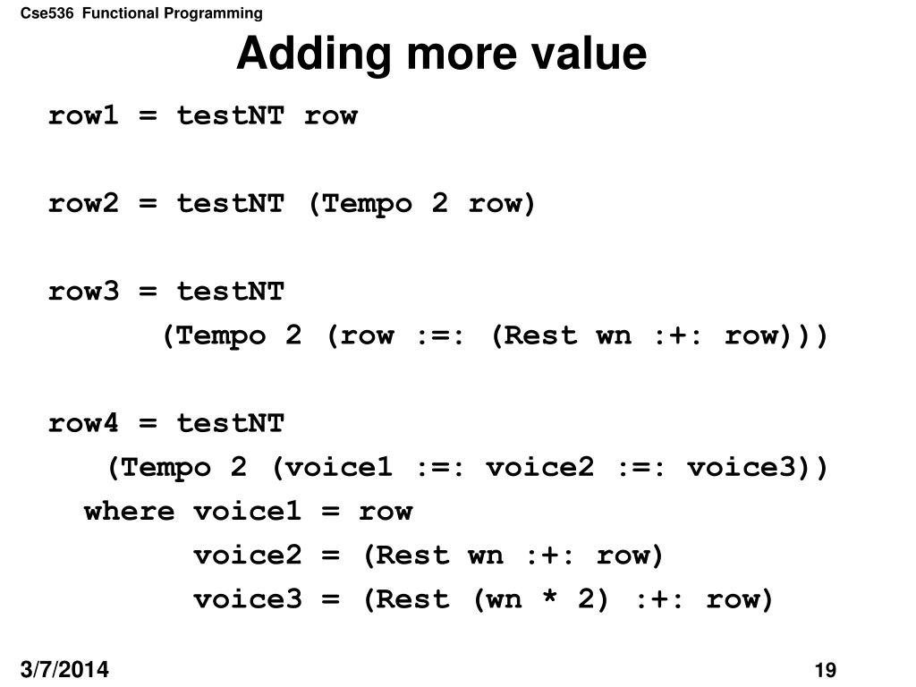 Adding more value