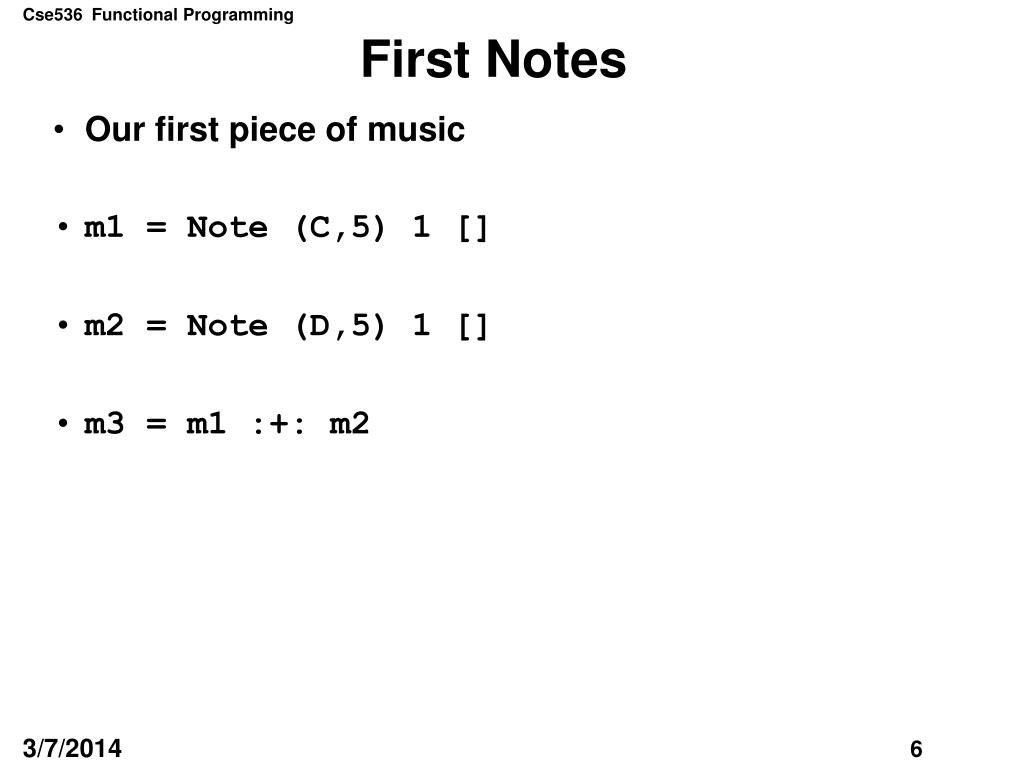 First Notes