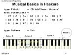 musical basics in haskore