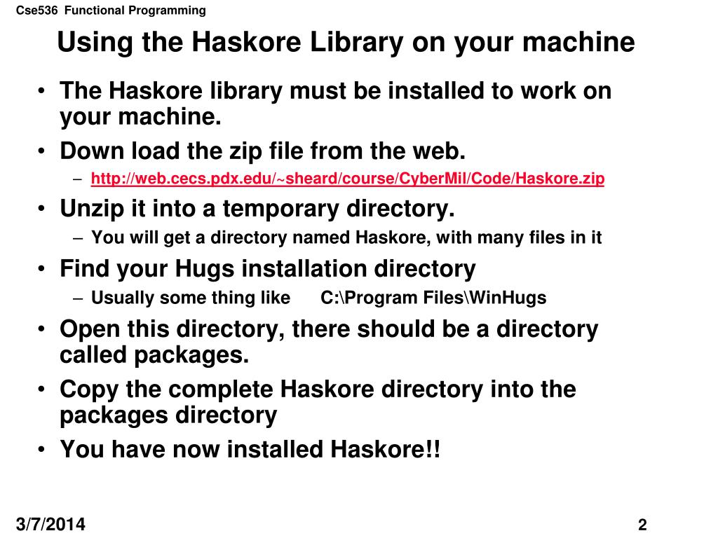 Using the Haskore Library on your machine