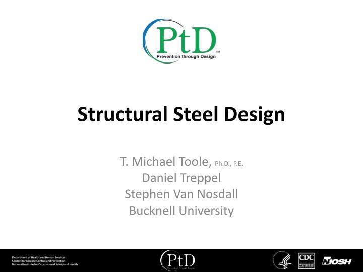 structural steel design n.