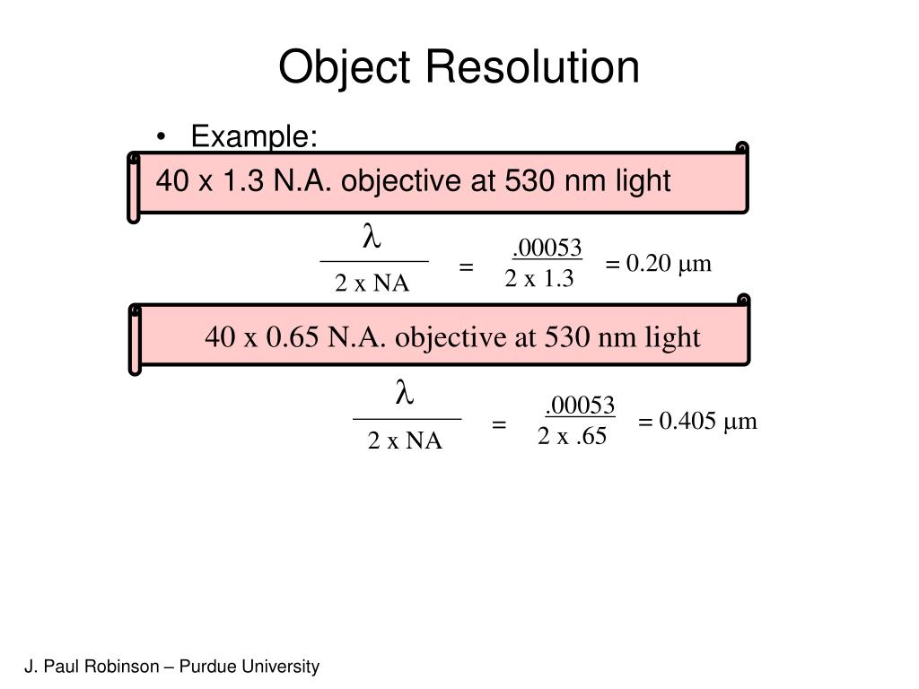 Object Resolution