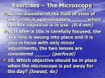 exercises the microscope29