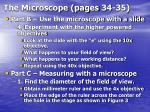 the microscope pages 34 35