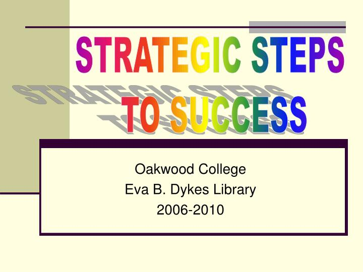 oakwood college eva b dykes library 2006 2010 n.