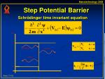 step potential barrier
