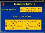 transfer matrix
