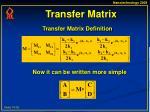 transfer matrix15