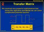 transfer matrix16