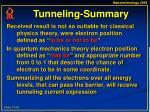 tunneling summary