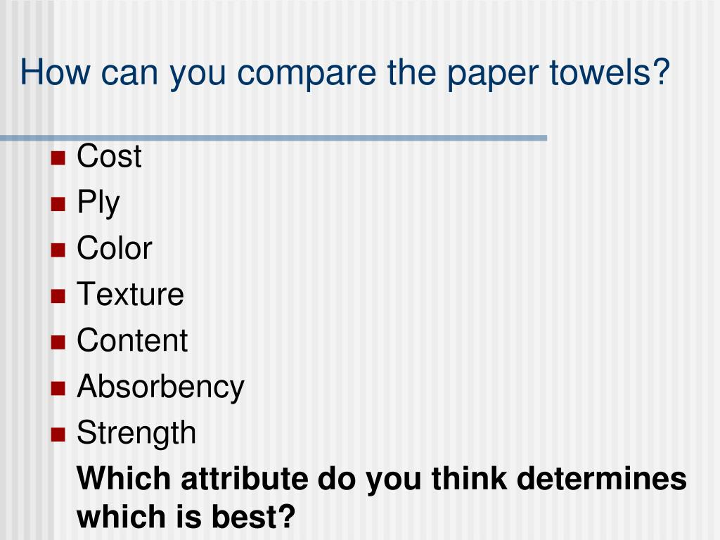 Scott paper towels research