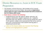 district resources to assist in eoc exam preparation19