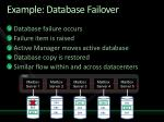 example database failover