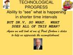 technological progress ability to see what is happening in shorter time intervals20