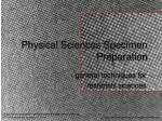 physical sciences specimen preparation33