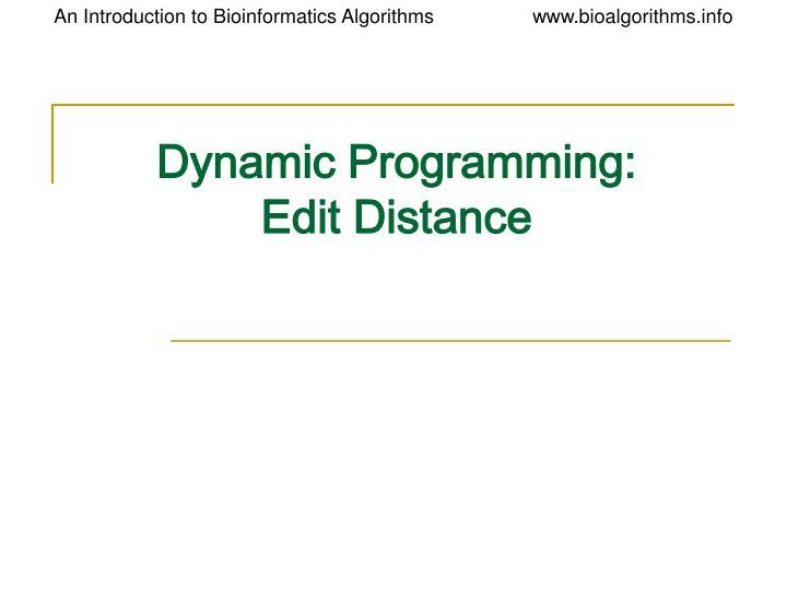 dynamic programming edit distance n.