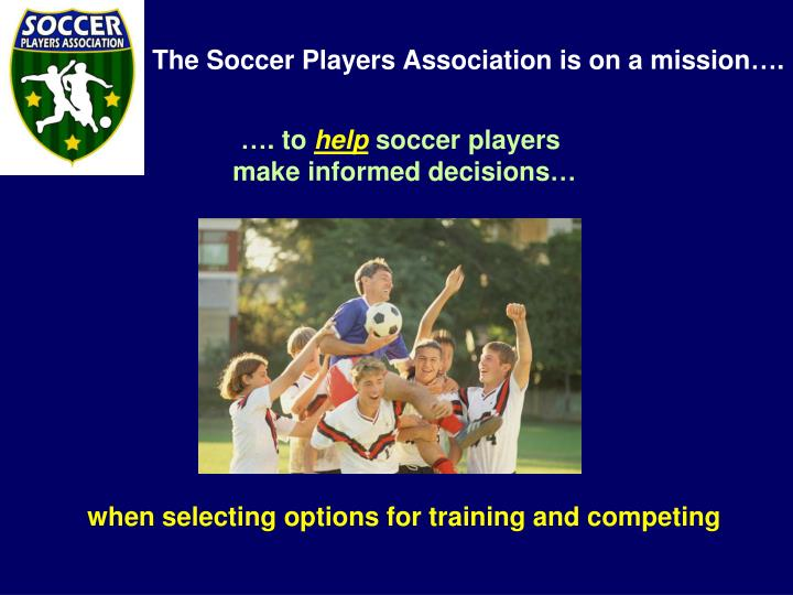 When selecting options for training and competing