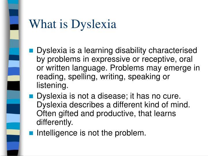 what is dyslexia n.