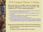 fce campout theme cooking