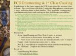 fce orienteering 1 st class cooking