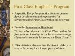 first class emphasis program
