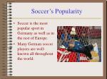 soccer s popularity