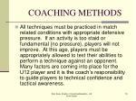 coaching methods