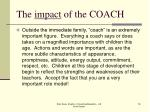 the impact of the coach