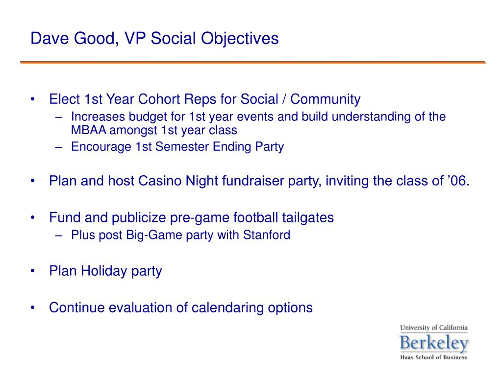 Dave Good, VP Social Objectives