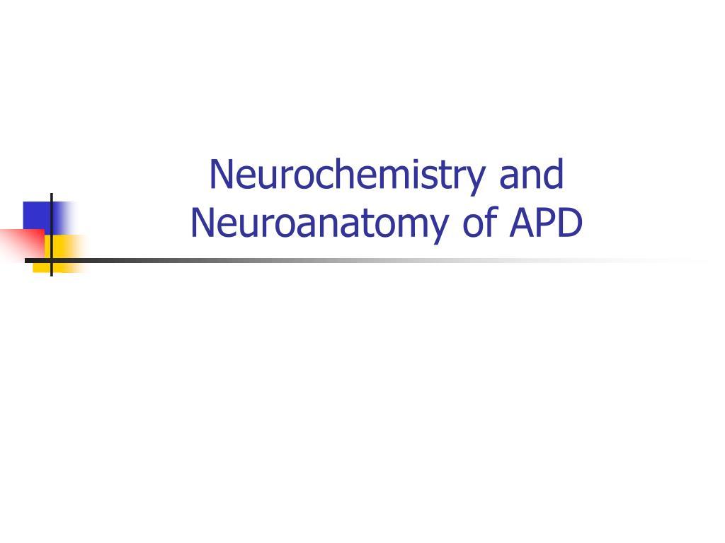 neurochemistry and neuroanatomy of apd l.