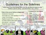 guidelines for the sidelines