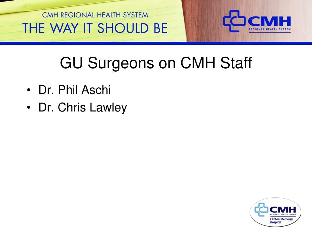 GU Surgeons on CMH Staff