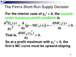 the firm s short run supply decision6
