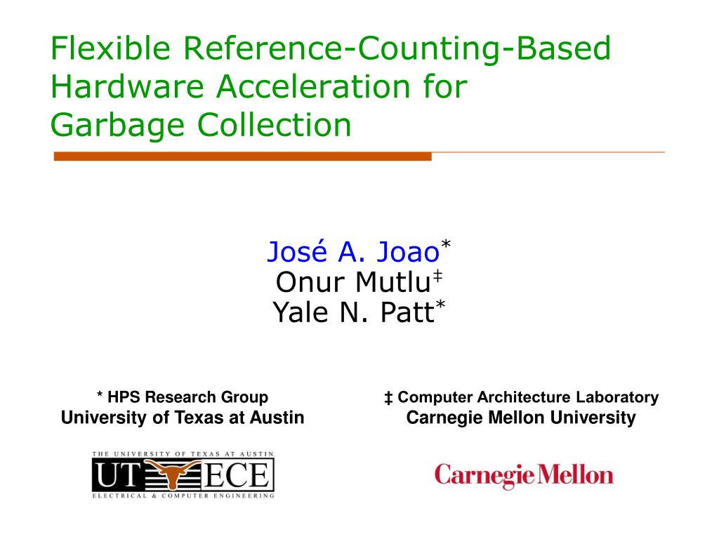 flexible reference counting based hardware acceleration for garbage collection l.