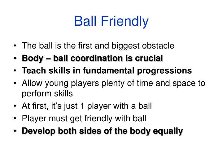 Ball friendly