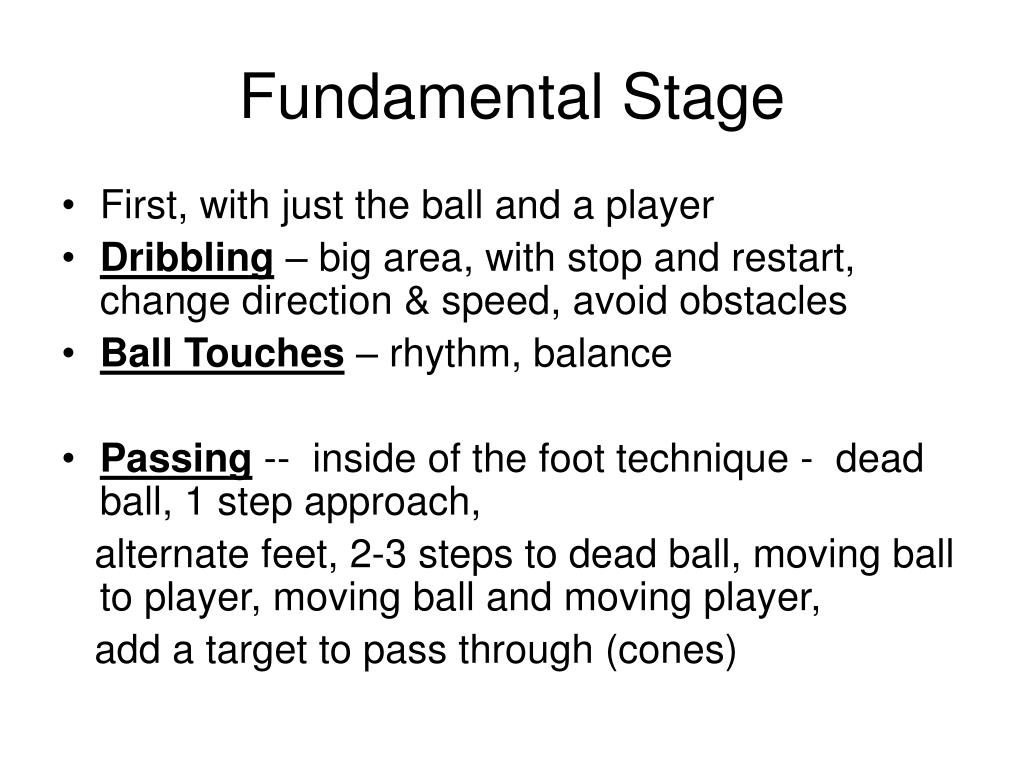 Fundamental Stage