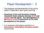player development 2