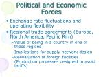 political and economic forces